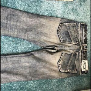 Buffalo jeans Men's Sz 32 X 27 length was altered